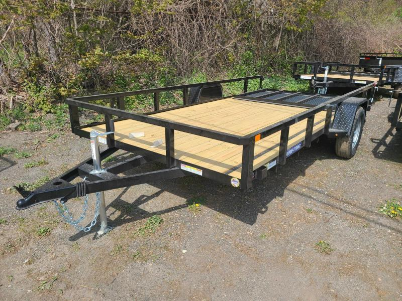 2021 Sure-Trac 7x14 SA Tube Top Utility Trailer