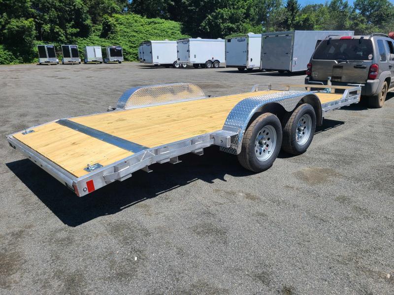 2021 Mission 7x18 Wood Deck Aluminum Car Trailer