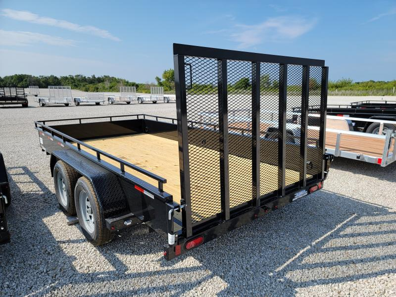 2022 Sure-Trac 7x14 Steel 7K Tandem High Side Trailer