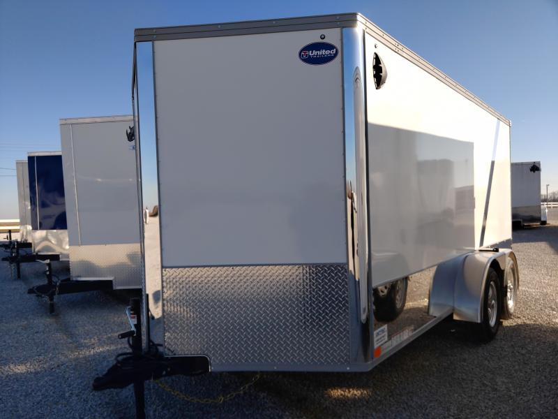 2021 United 7x14 Enclosed Motorcycle Trailer