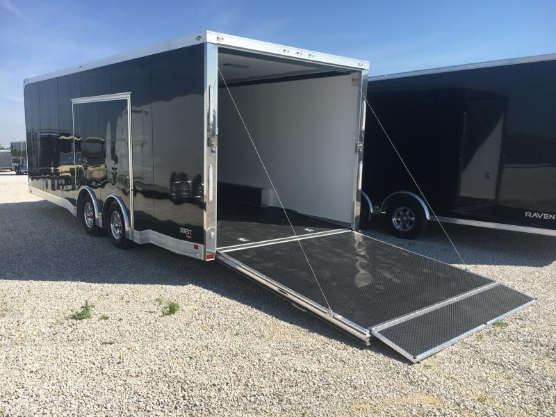 2019 ATC 8.5X24 Black Aluminum Car/Racing Trailer