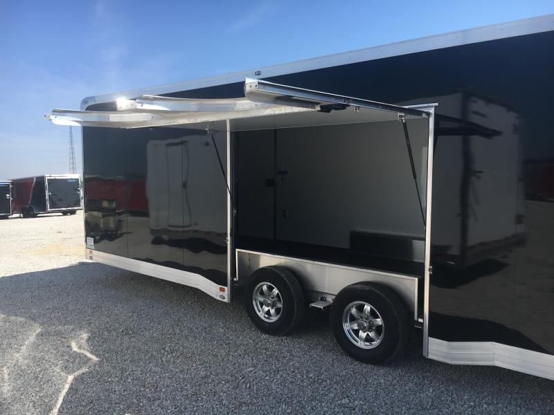 2019 ATC 8.5X24 Black Aluminum Enclosed 10K Car Trailer