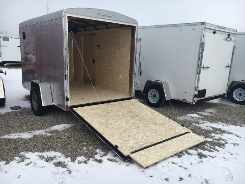 2019 Cargo Express 6x10 Enclosed Ramp Door Trailer
