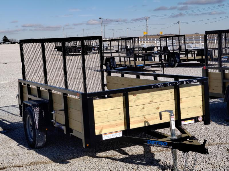 2021 Sure-Trac 6x10 Tube Top 3K Three Board High Side Trailer