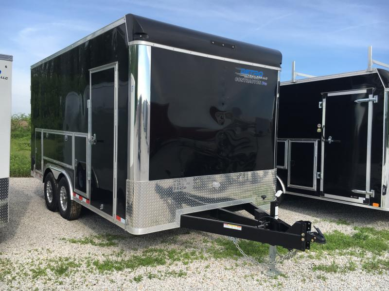 2019 Sure-Trac 8.5x16 Black Contractor Pro BN Cargo TA 14K DRD Trailer