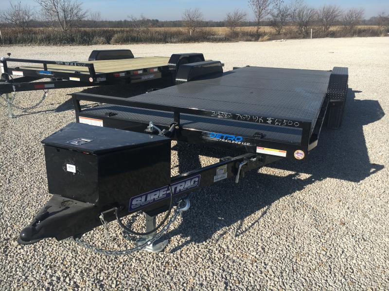 2021 Sure-Trac 7x20 Hydraulic Tilt Bed 10K Car Hauler Trailer