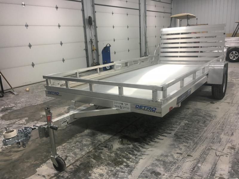 2020 Aluma 78X14 ES Utility Trailer w/ 1-pc Gate