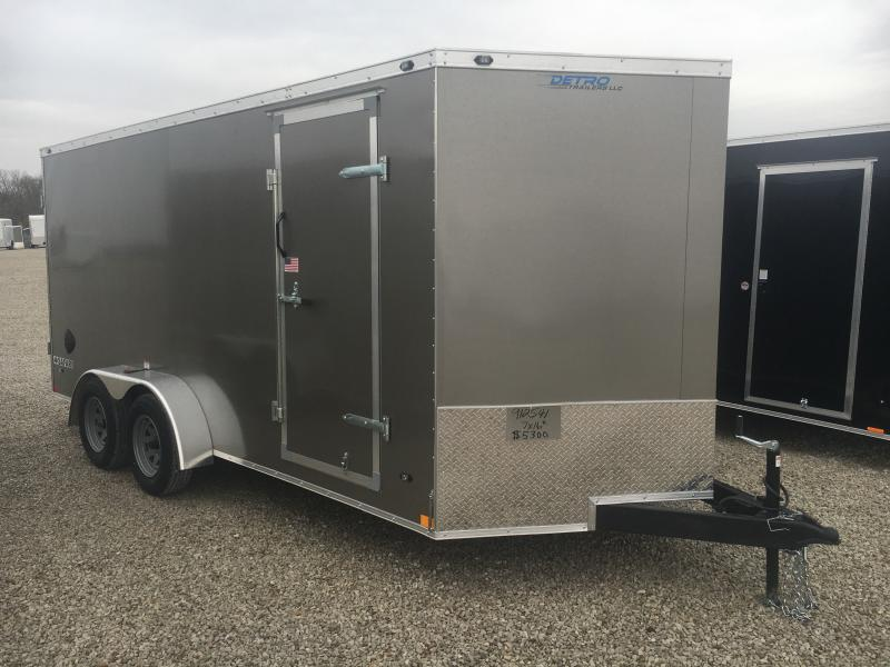 2021 Rhino Safari 7x16 Enclosed Ramp Door Trailer