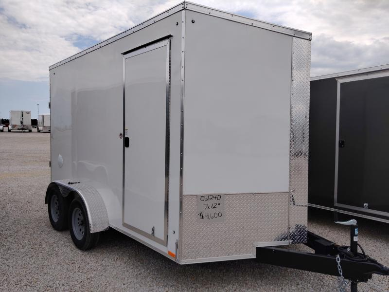2021 Cargo Express 7X12 Enclosed Ramp Door Trailer