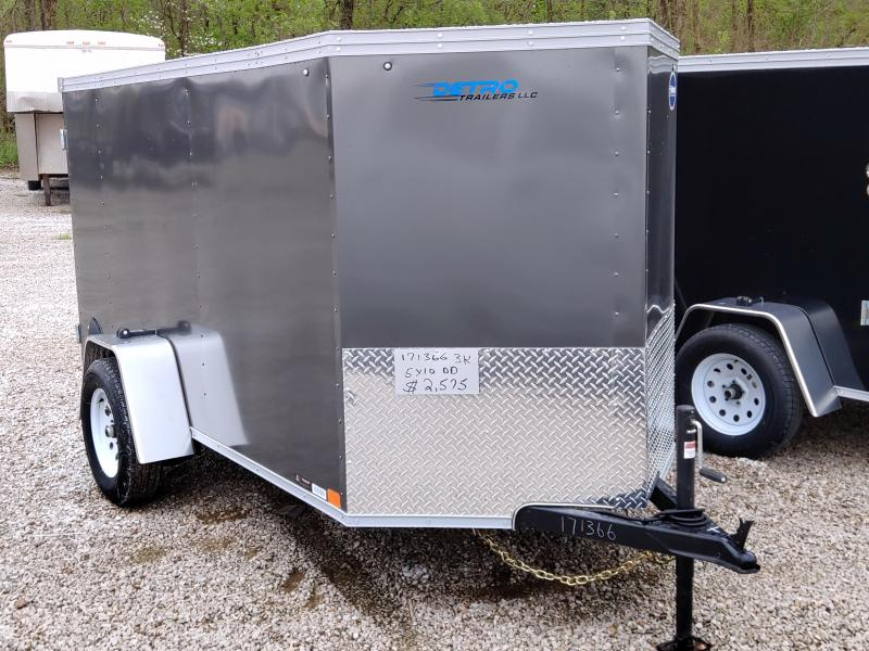 2020 United 5X10 Enclosed Double Rear Door Trailer