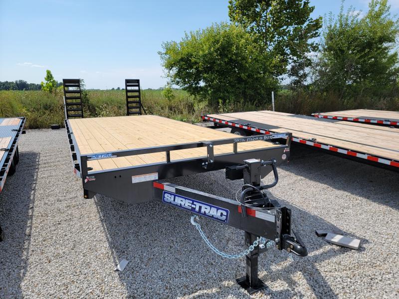 2021 Sure-Trac 8.5x24(20+4) Std Duty Beavertail Deckover Equipment Trailer