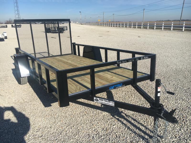 2021 Rhino 6x12 Tube Top Utility Trailer