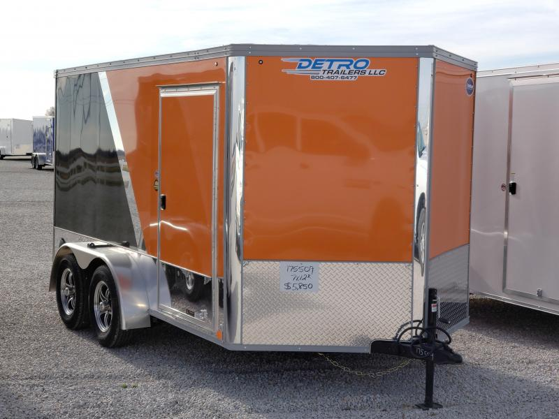 2021 United 7x12 Orange/Black Motorcycle Trailer
