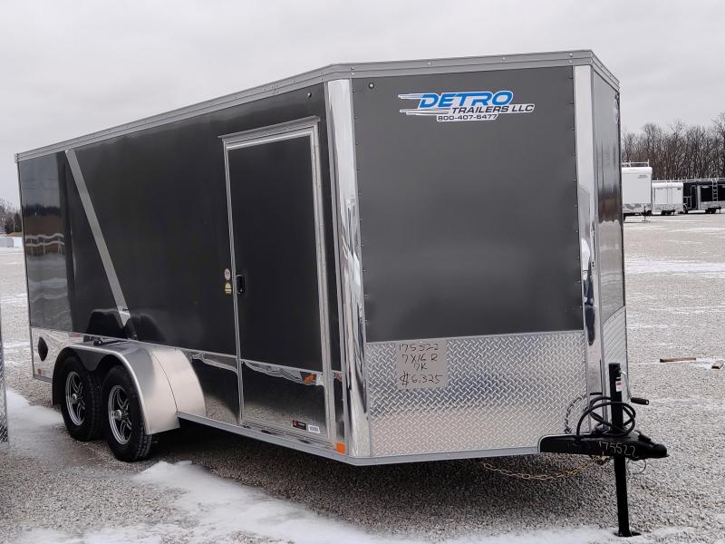 2021 United 7x16 7K Charcoal/Black Motorcycle Trailer