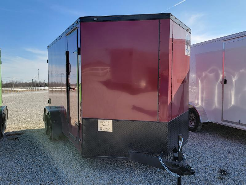 2021 Rhino Trailers 7X14 Rear Ramp Door Enclosed Cargo Trailer