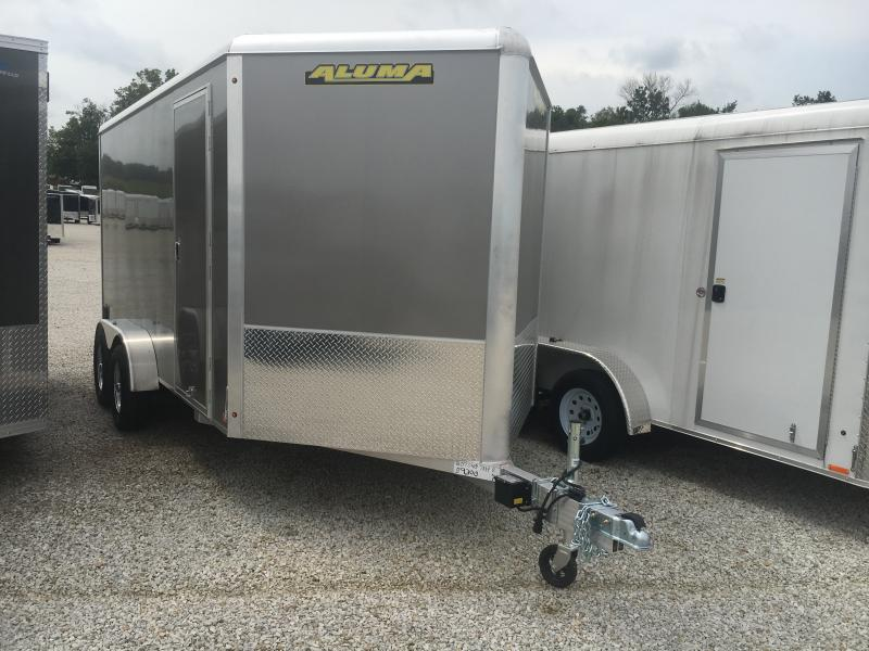 2020 Aluma 7X14 Enclosed TA Ramp Door Trailer