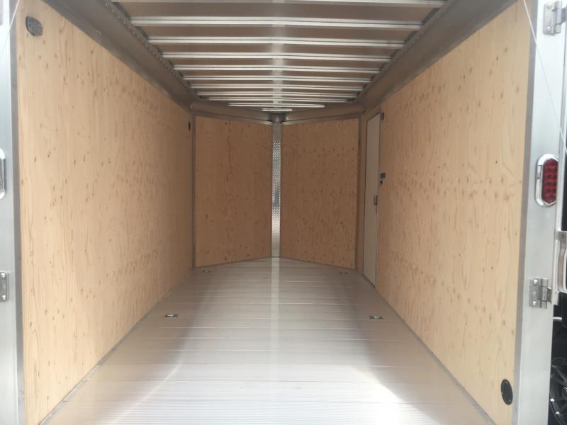 2020 Aluma 7X14 Enclosed TA Ramp Door Aluminum Trailer