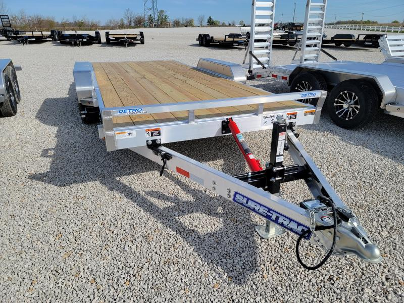 2021 Sure-Trac 82x18 Aluminum 7K Manual Tilt Car Trailer