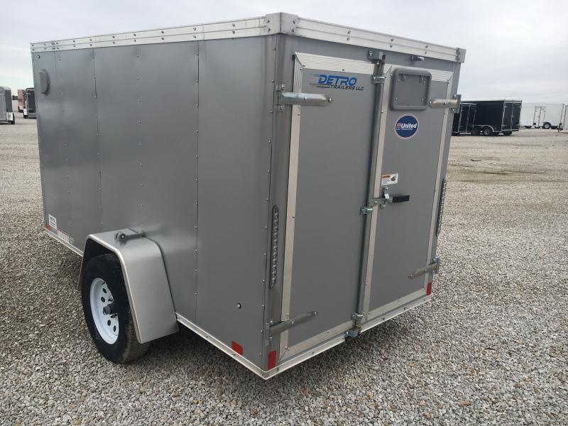 2019 United 5X10 Enclosed Double Rear Door Trailer