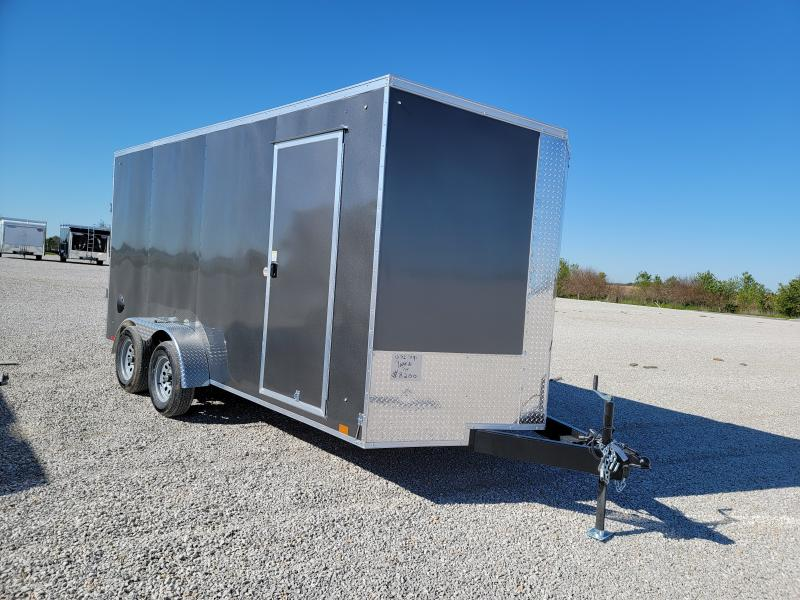 2022 Cargo Express 7x16 Rear Ramp Door Enclosed 7K Trailer