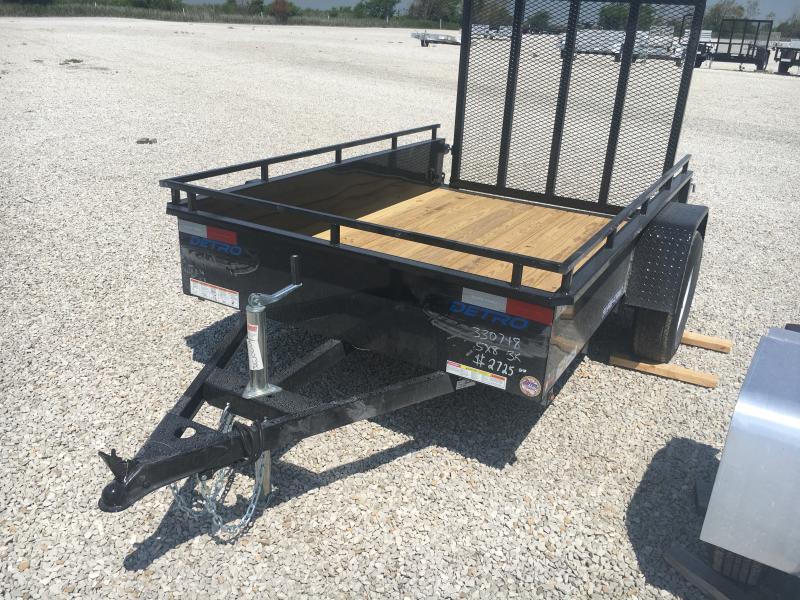 2021 Sure-Trac 5x8 Steel High Side Trailer 3K Idler