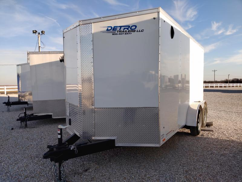 2021 Cargo Express 7x14 Enclosed 7K TA Ramp Door Trailer