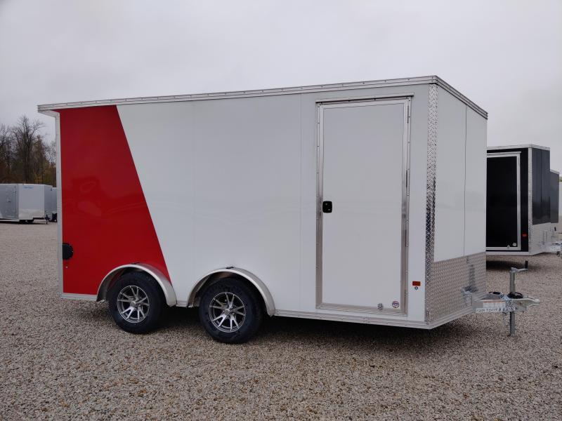 2019 EZ Hauler 7.5X14 Enclosed Aluminum Ramp Door TA Trailer