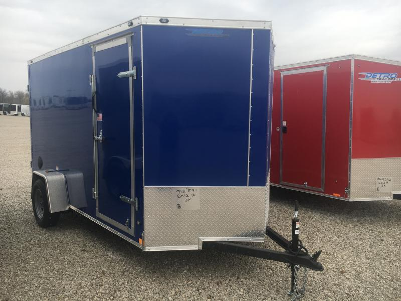 2021 Rhino Cub 6x12 Enclosed Ramp Door Trailer