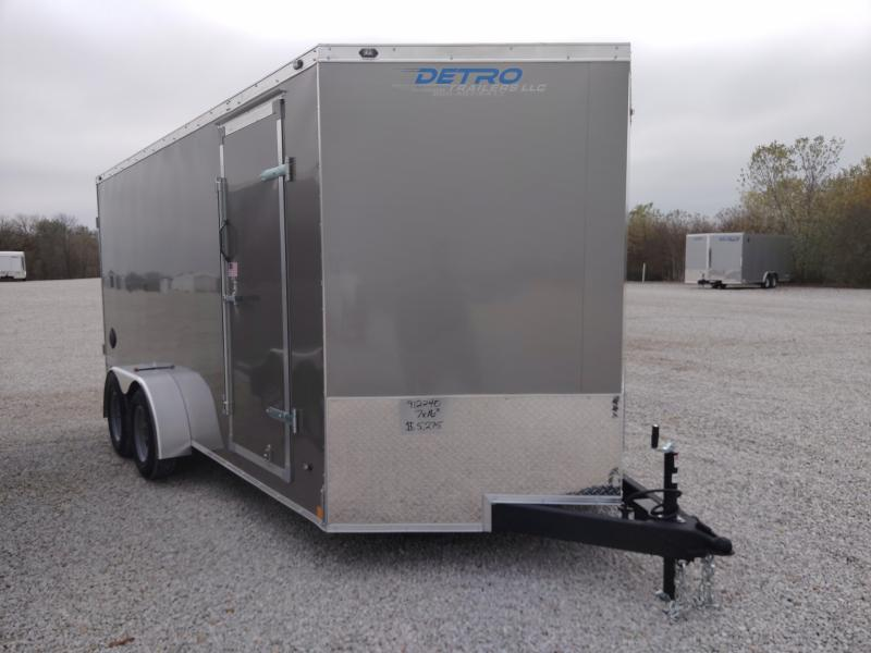 2020 Rhino 7x16 Safari Enclosed Ramp Door TA Trailer