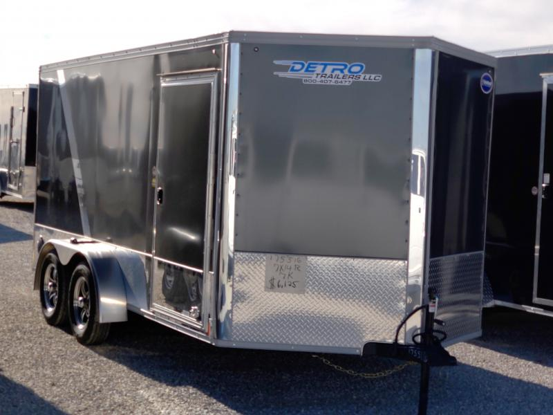 2021 United 7x14 7K Charcoal/Black Motorcycle Trailer