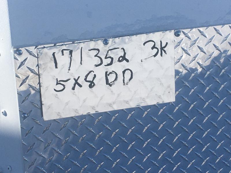 2020 United 5X8 Enclosed Double Rear Door Trailer