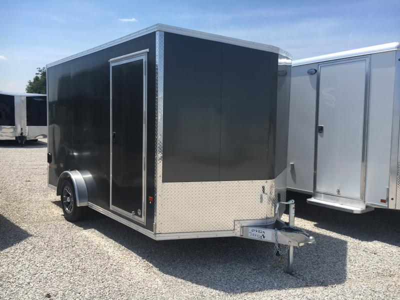 2019 EZ Hauler Aluminum 7.5X12 3.5K Enclosed Ramp Door Trailer