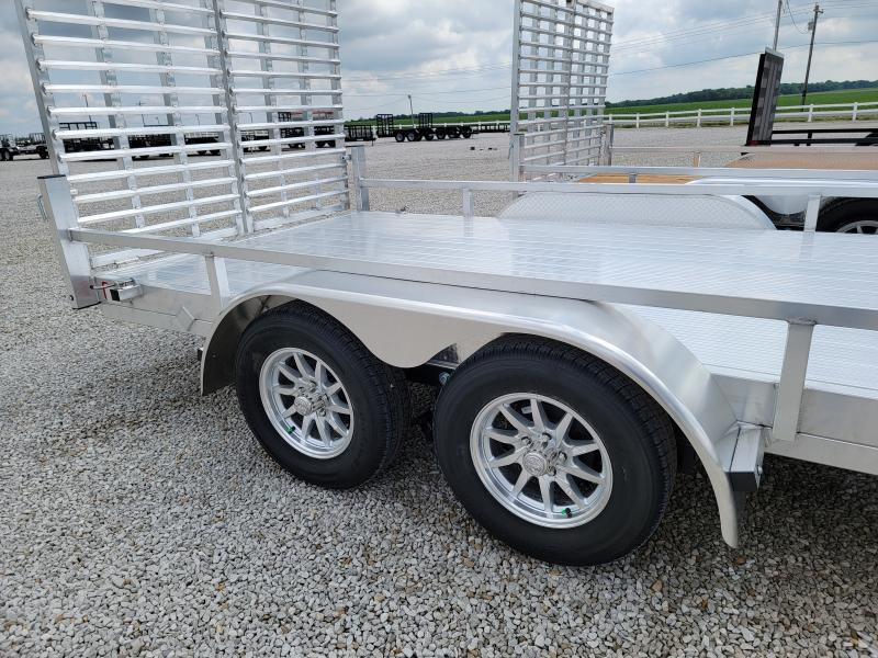 2021 Black Rhino Aluminum Deck 7K Tandem 7x16 Utility Trailer