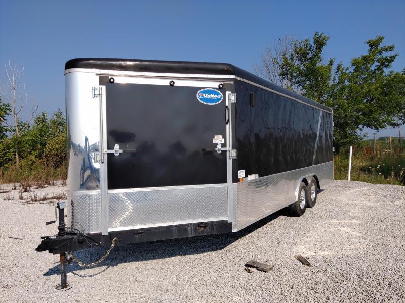 2015 United 8.5X25 Snowmobile/ATV Dual Ramp Door Trailer