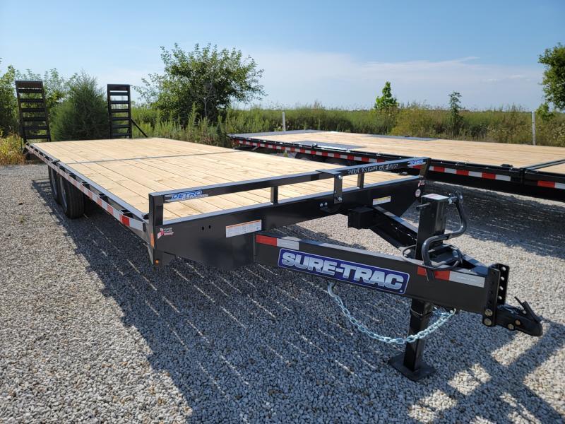 2021 Sure-Trac 8.5x26(22+4) Std Duty 15K Beavertail Deckover Equipment Trailer