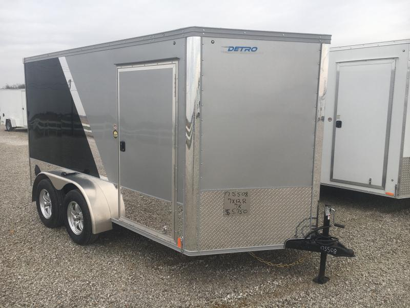2021 United Silver/Black 7x12 Motorcycle Trailer