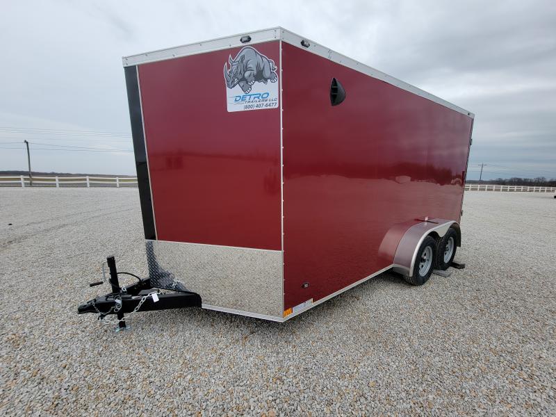 2021 Rhino Trailers 7X14 Rear Ramp Door Enclosed Cargo Trailer