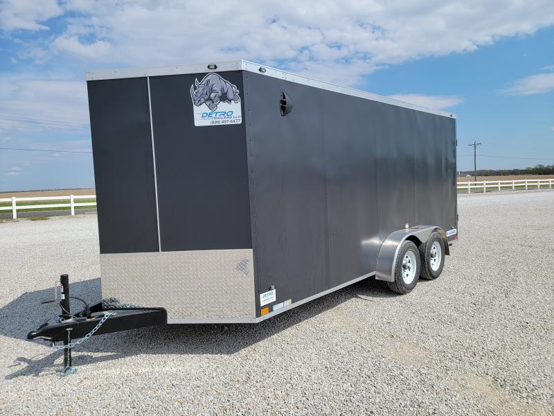 2021 Rhino Trailers 7X16 Rear Ramp Door Enclosed Cargo Trailer