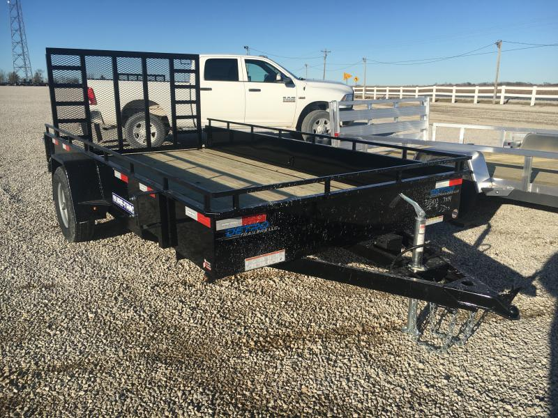 2021 Sure-Trac 7x14 Steel High Side Trailer 5K w/ Brakes