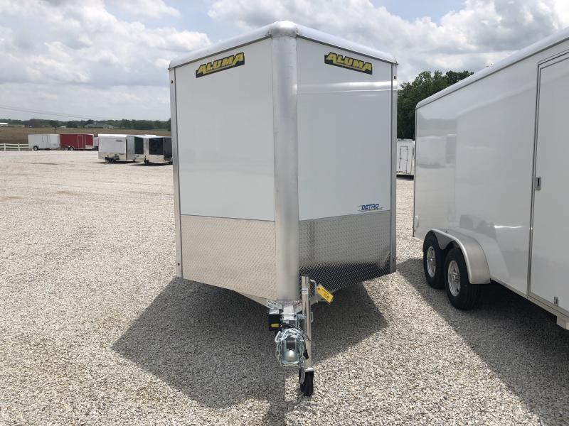 2020 Aluma 7X14 Enclosed Aluminum TA Ramp Door Trailer