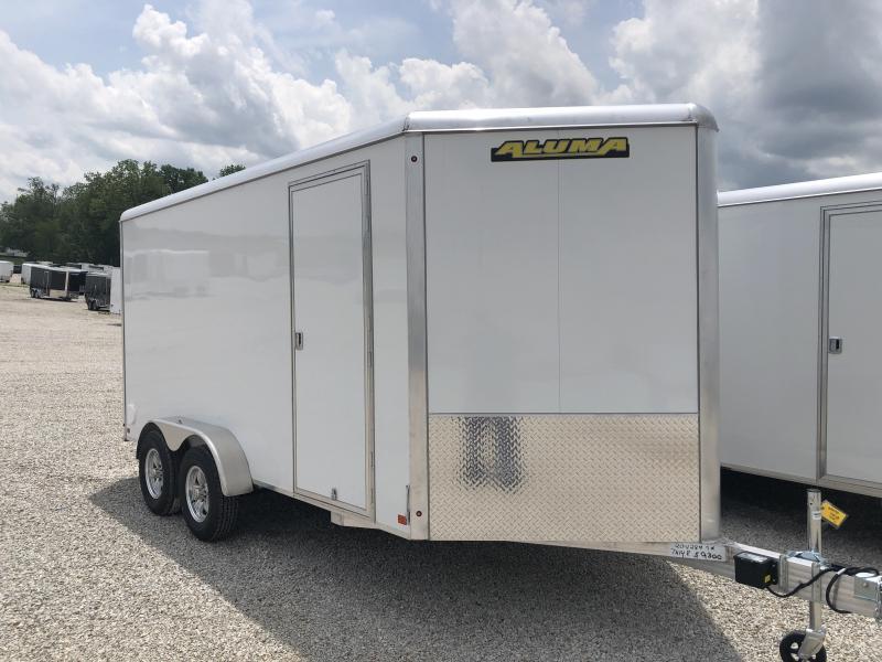2020 Aluma 7X14 Enclosed Aluminum TA Ramp Door Trailer