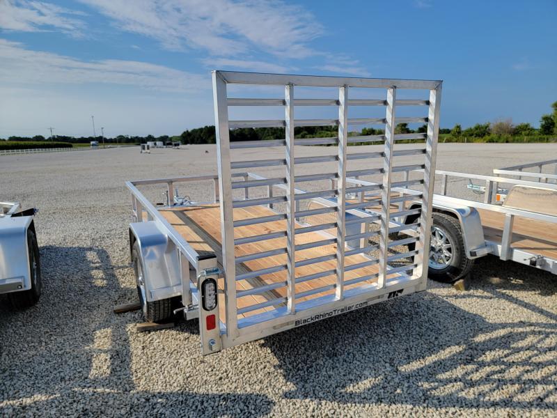 2022 Black Rhino 5x10 Aluminum Wood Deck Utility Trailer
