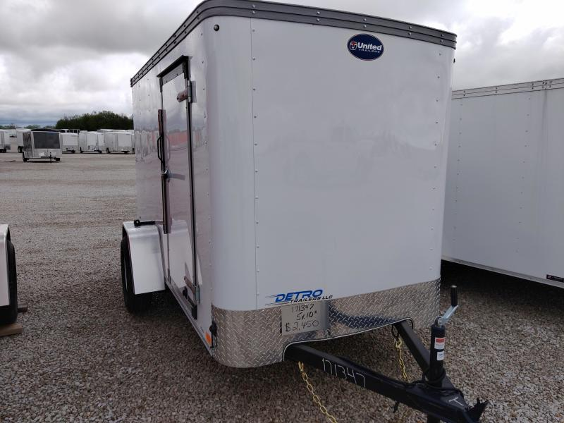 2020 United 5X10 Enclosed Ramp Door Trailer