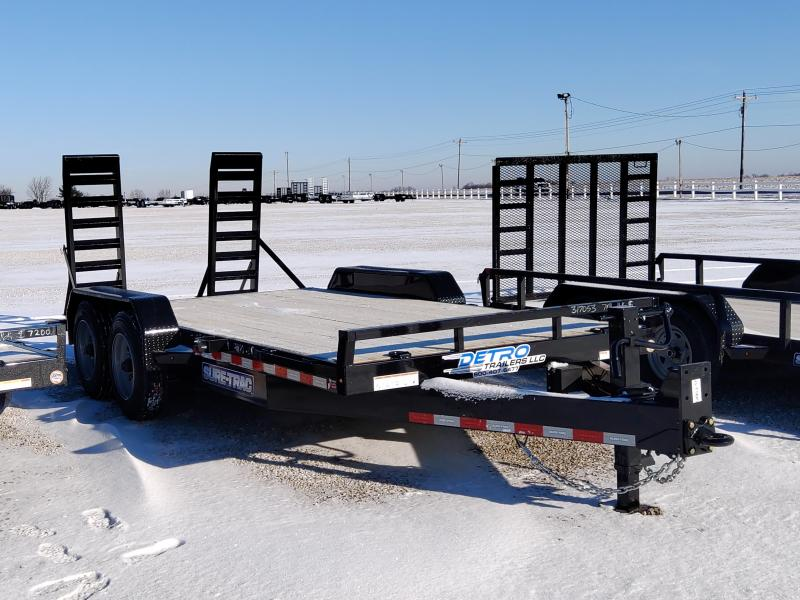 2021 Sure-Trac 7x16(14+2) 16K Equipment Trailer