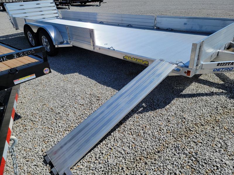 2022 Aluma 81x22 7K Tandem Aluminum Utility Trailer