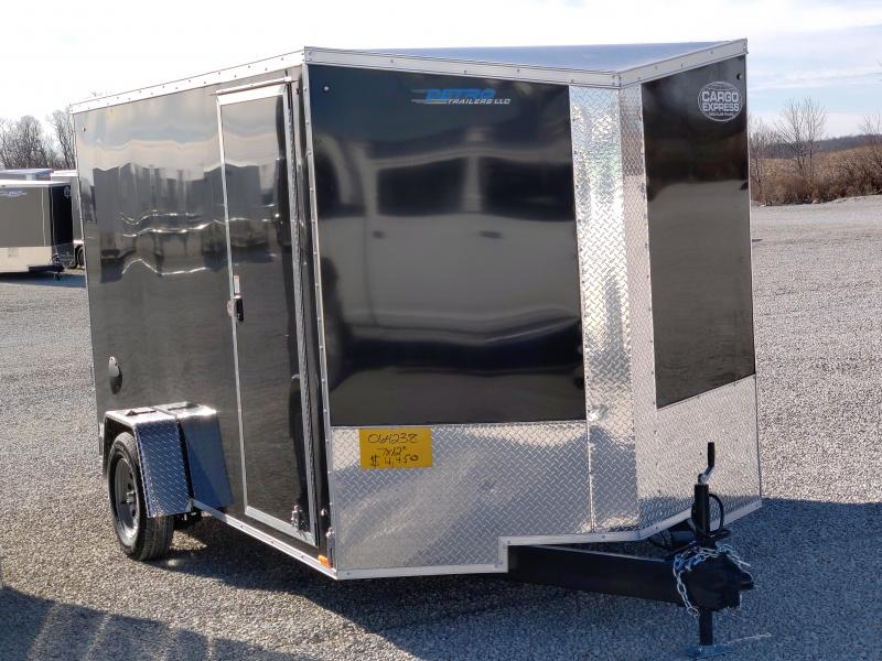 2021 Cargo Express 7x12 SA Enclosed Ramp Door Trailer