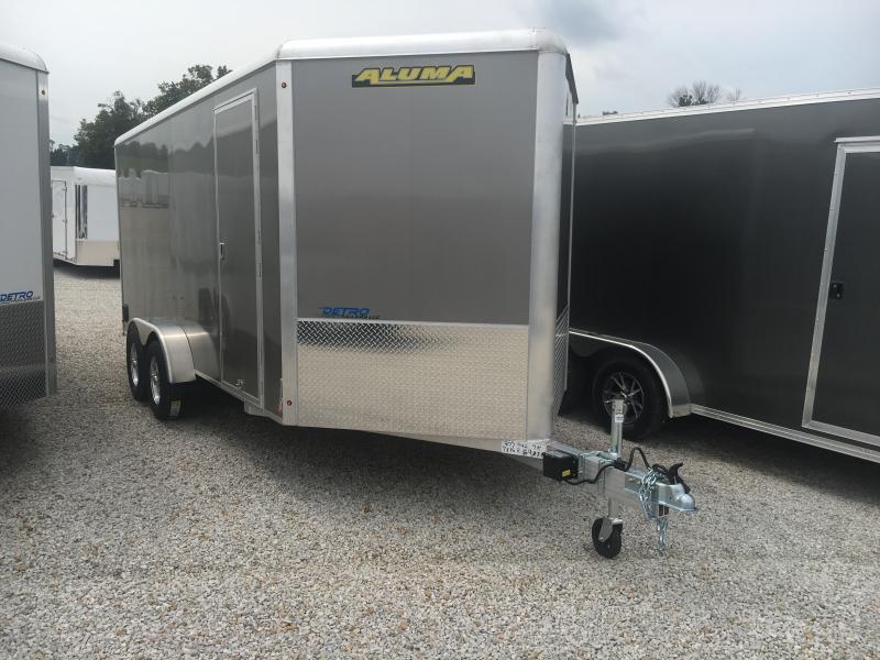 2020 Aluma 7X16 Enclosed TA Ramp Door Trailer