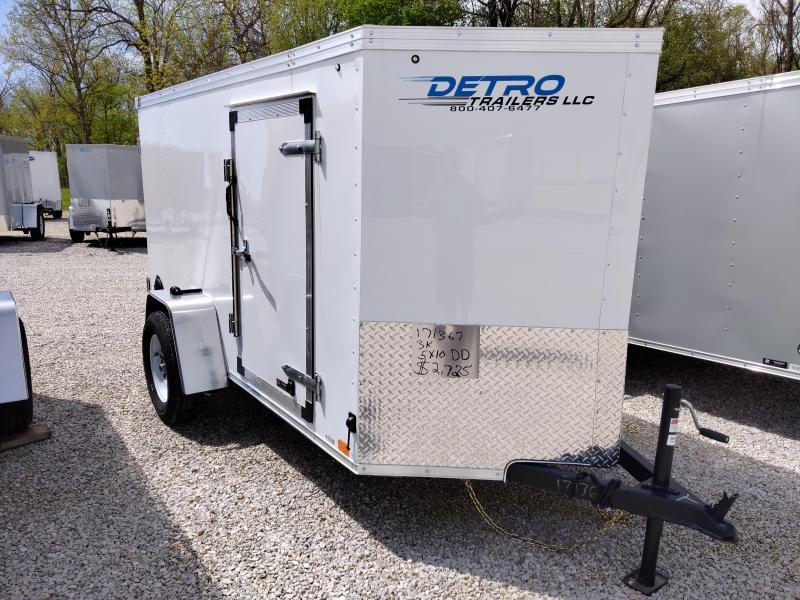 2020 United 5X10 Enclosed Double Rear Door Trailer