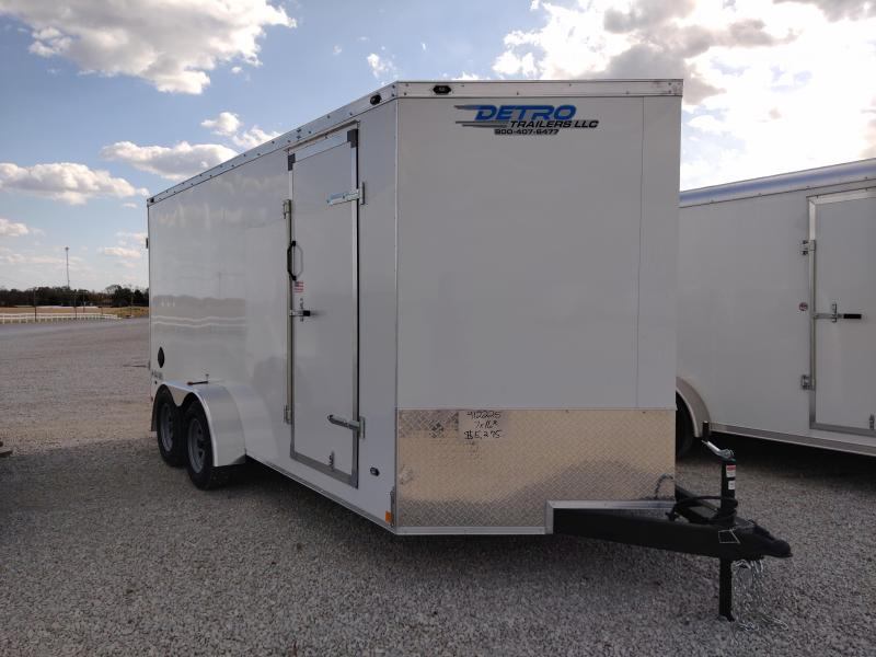 2020 Rhino Trailers 7X16 Safari Enclosed Ramp Door TA Trailer