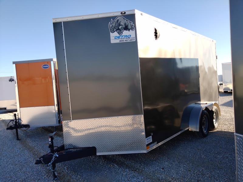 2020 Rhino 7x14 Rear Ramp Door Enclosed Trailer